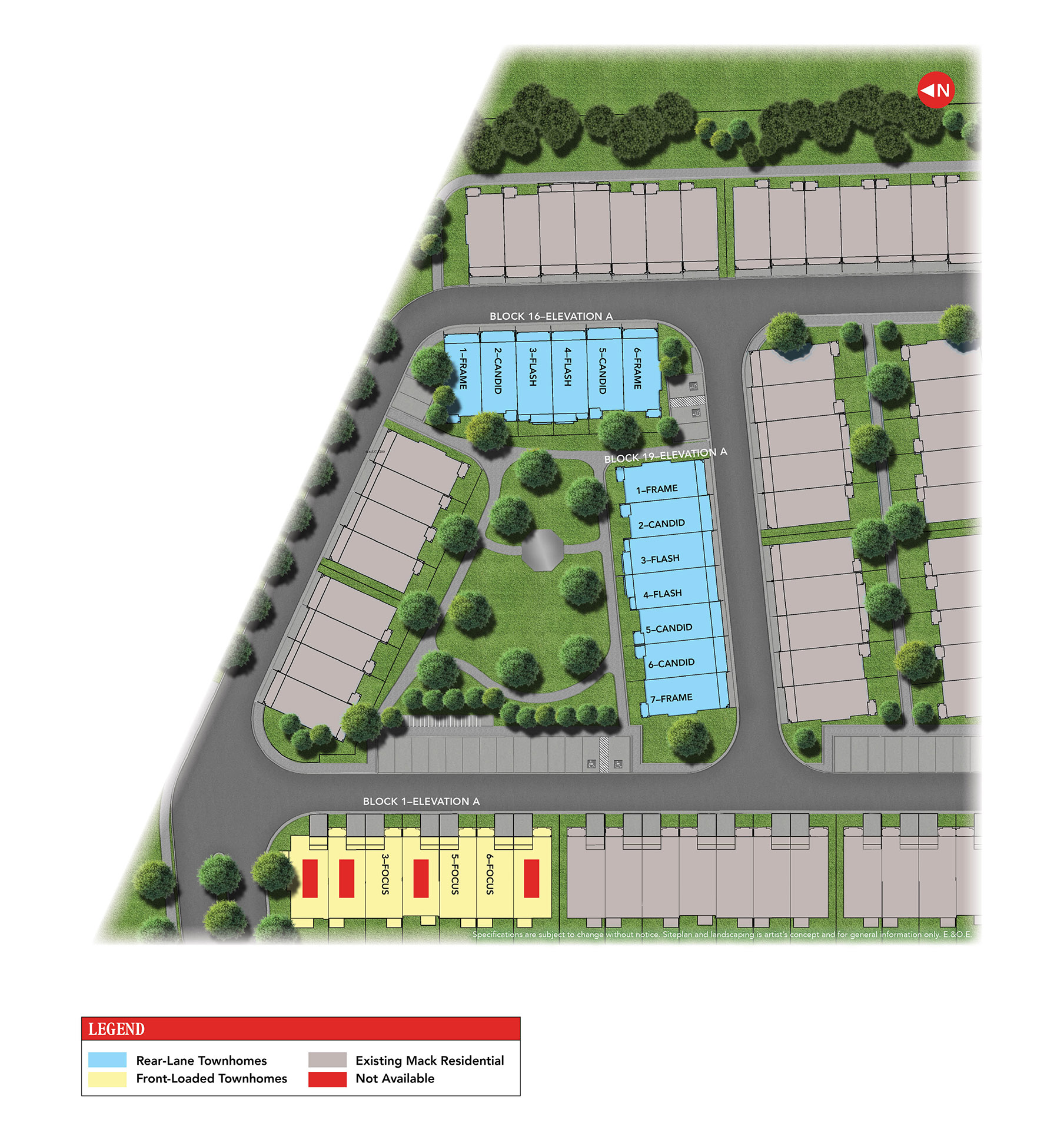 Parkside Collection Siteplan